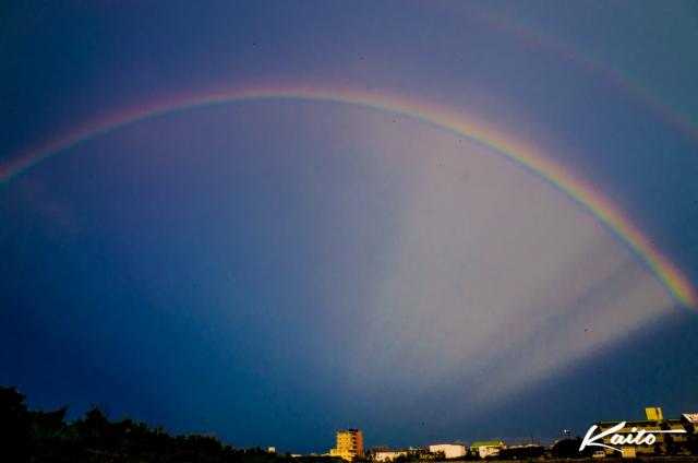 石垣島 大きな虹