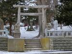 北海道紋別の三吉神社(3月)