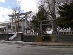 北海道紋別市、厳島神社隣接、雪に埋もれた太平山三吉神社(3月末)