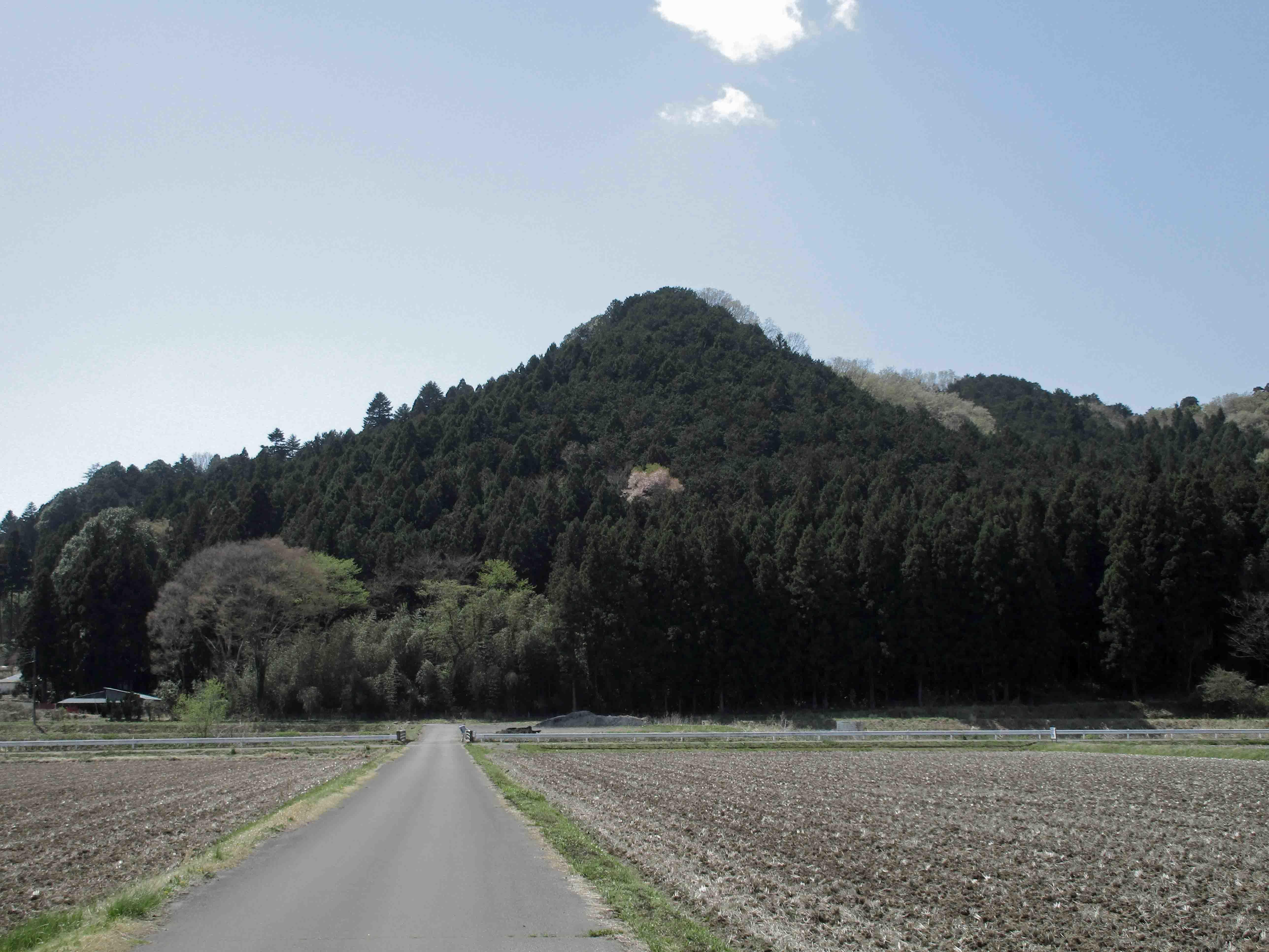 猪倉城 遠景
