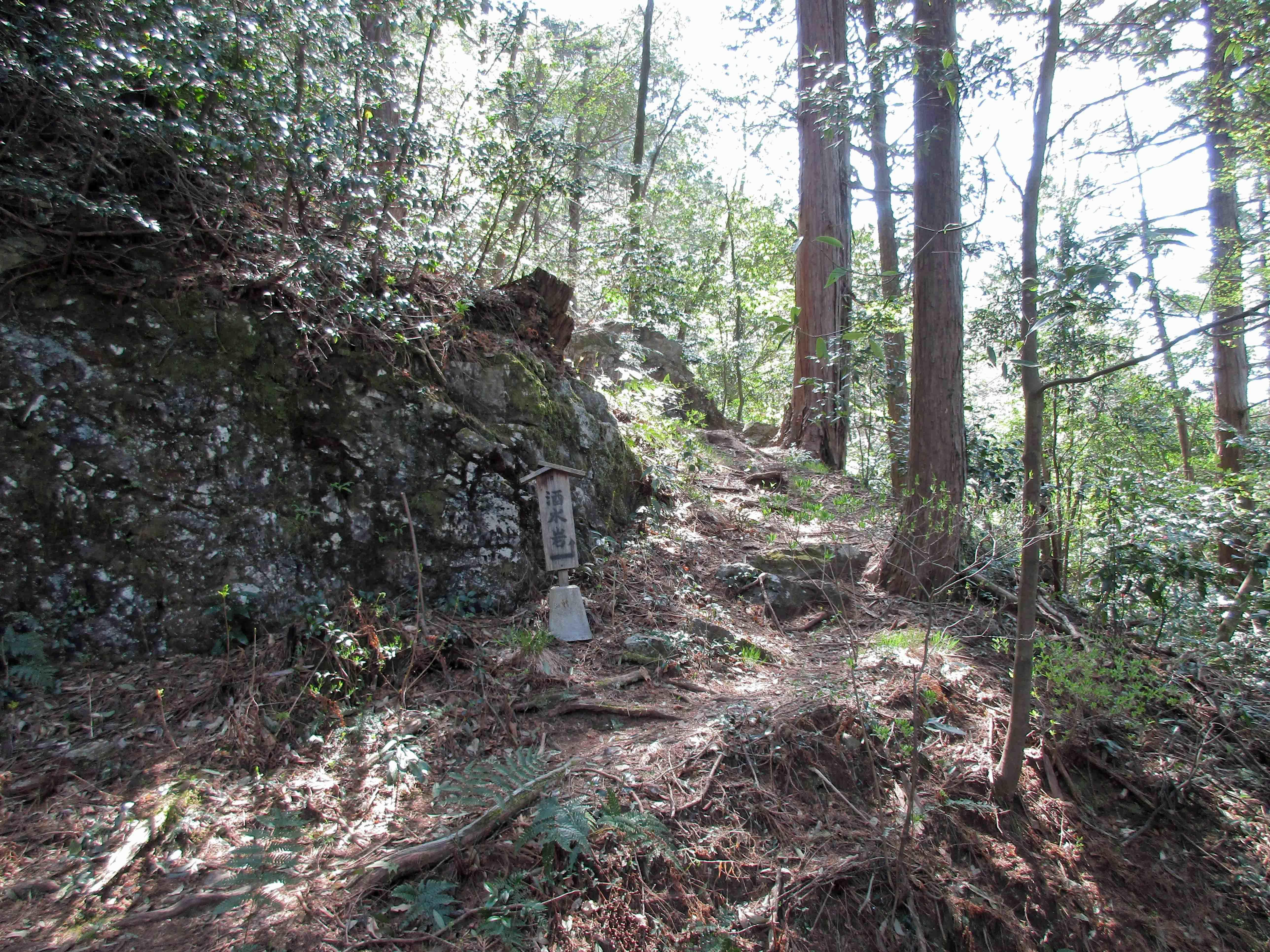 探索コ-スへ 酒水岩