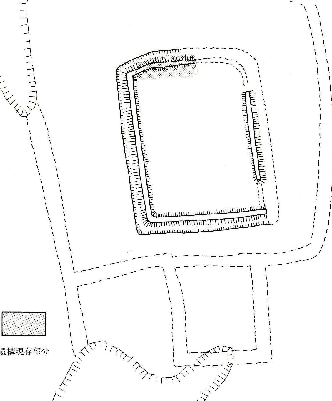 駒城復元想定図