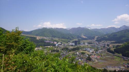 神立城本丸から東の展望
