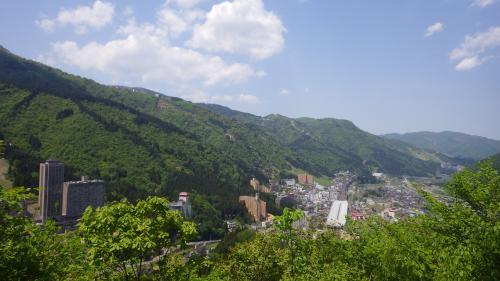 神立城本丸から北の展望