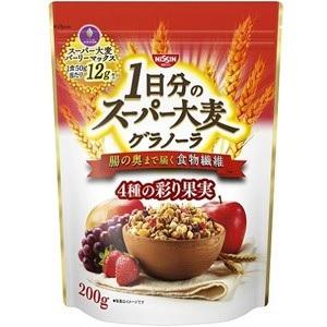 日清シスコ 1日分のスーパー大麦 グラノーラ 4種の彩り果実