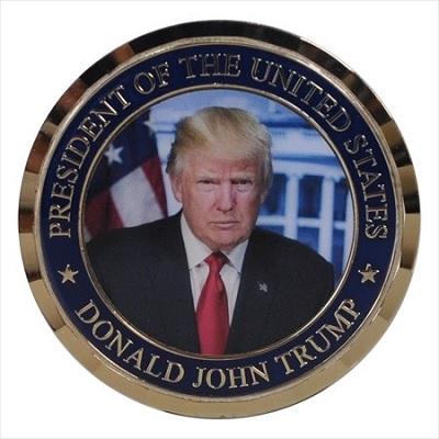 米大統領ドナルド・トランプ 記念メダル