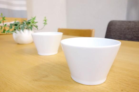 IKEA 365+ ボウル, 斜め縁 ホワイト②