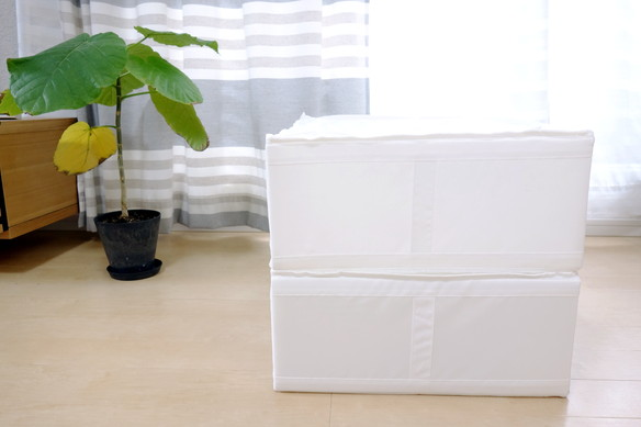 IKEA・SKUBB 収納ケース, ホワイト 44x55x19cm①