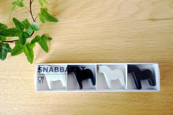 IKEA・SNABBAKAT 箸置き, ブラック, ホワイト①