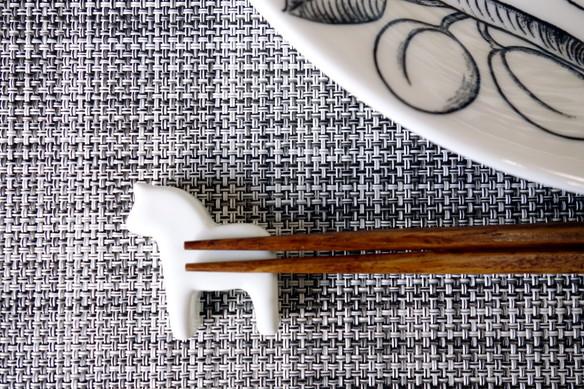 IKEA・SNABBAKAT 箸置き, ブラック, ホワイト②