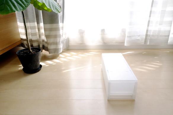 無印・ポリプロピレンケース引出式ハーフ・浅型・1個(仕切付) (V)約幅14×奥行37×高さ12cm②