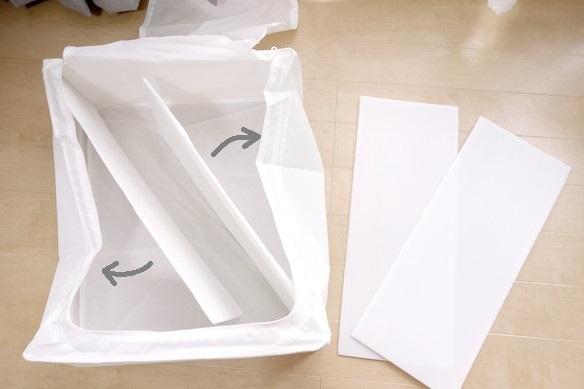 IKEA・SKUBB 収納ケース, ホワイト 44x55x19cm③