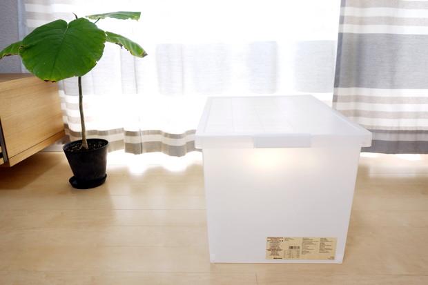 無印・ポリプロピレンキャリーボックス・ロック付・深 約幅36×奥行52×高さ33cm②