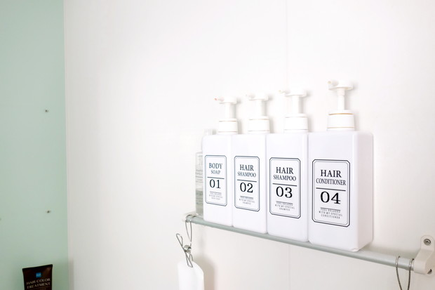 浴室・キャンドゥ・詰め替えボトルステッカー②