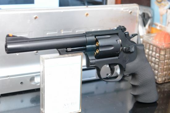 """クラウンモデル S&W M19(6インチモデル) ⑤ """"武器としてのシャープな凄み"""""""