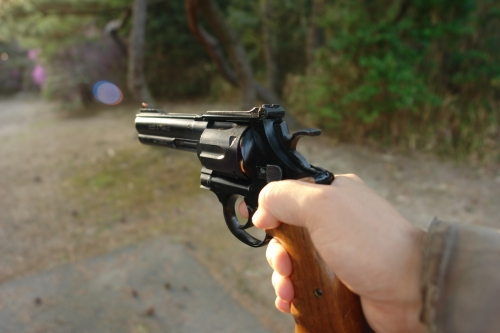 S&W M629 ciassic ⑨ 墓園にて試射
