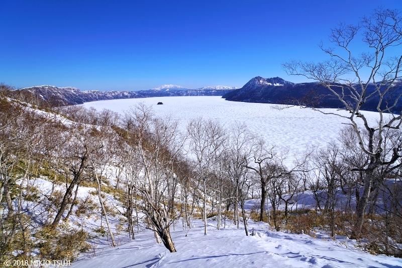 絶景探しの旅 - 0549 残雪の摩周湖ブルー (北海道 弟子屈町)