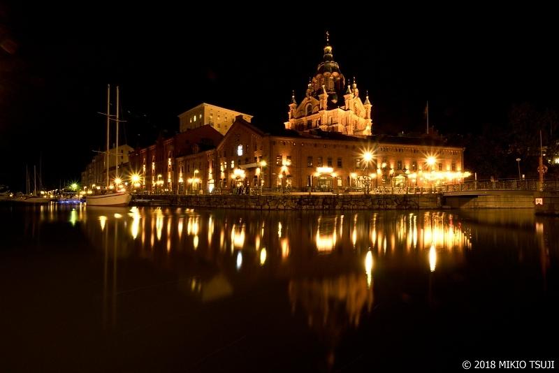 絶景探しの旅 - 0568 夜の闇に輝く北欧の御殿 (ウスペンスキー寺院/フィンランド ヘルシンキ)