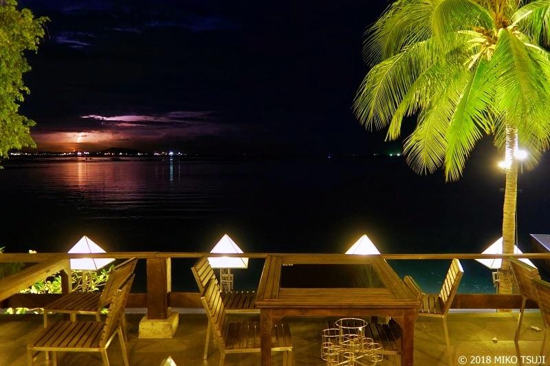 絶景探しの旅 - 0582 稲妻光る海辺の夜 (タイ シラチャ)