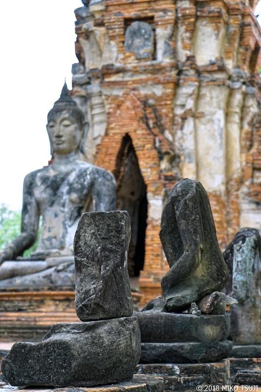 絶景探しの旅 - 0586 頭のない仏像の並ぶ廃墟の寺院 (ワット・マハタート/タイ アユタヤ)