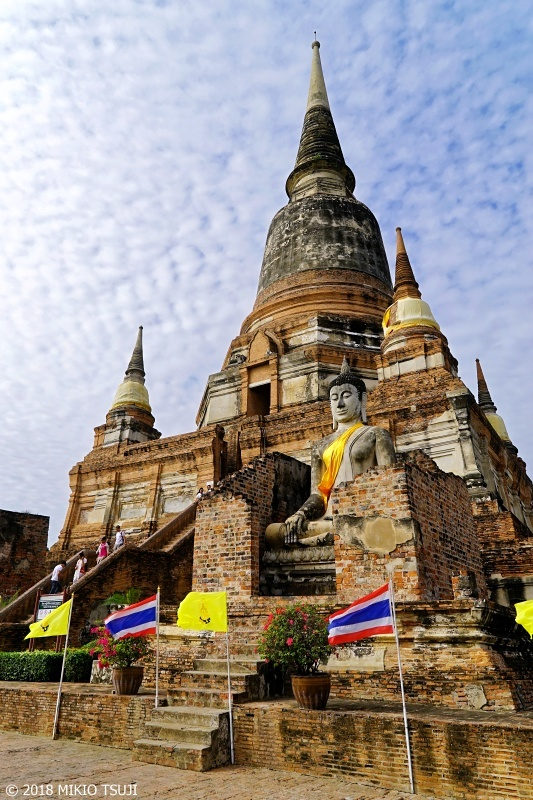 絶景探しの旅 - 0588 14世紀の世界遺産の寺院 (ワット・ヤイ・チャイ・モンコン/タイ アユタヤ)