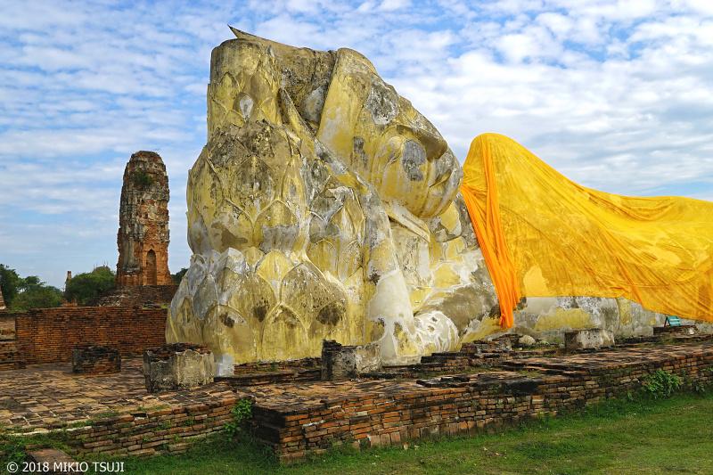 絶景探しの旅 - 0589 廃墟に横たわる涅槃仏 (ワット・ローカヤスターラーム/タイ アユタヤ)