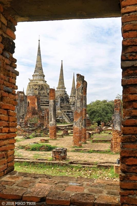 絶景探しの旅 - 0590 アユタヤ王の遺骨が眠る遺跡 (ワット・プラシーサンペット/タイ アユタヤ)