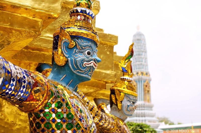 絶景探しの旅 - 0600 ワットプラケオ(王宮)の鬼「ヤック」と猿神「モック」 (タイ バンコク)