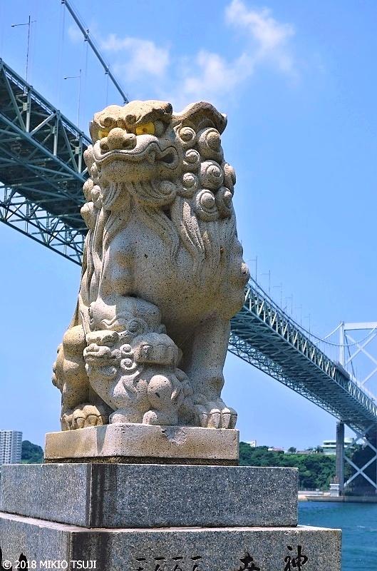 絶景探しの旅 - 0616 関門海峡と和布刈神社(めかり神社)の狛犬 (福岡県 北九州市)