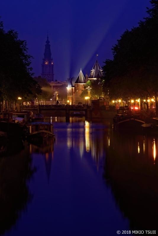 絶景探しの旅 – 0633 蒼い運河の風景 (オランダ アムステルダム)