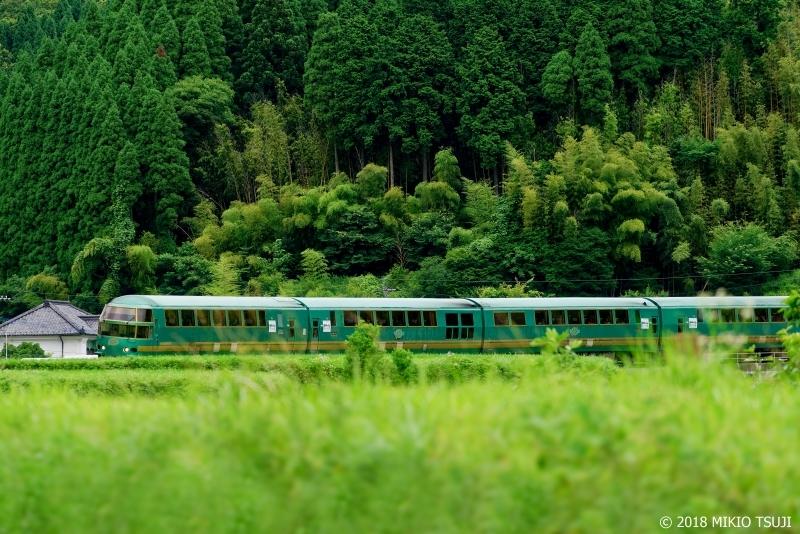 絶景探しの旅 - 0636 緑の山里を走り抜けるる「ゆふいんの森」 (大分県 由布市)