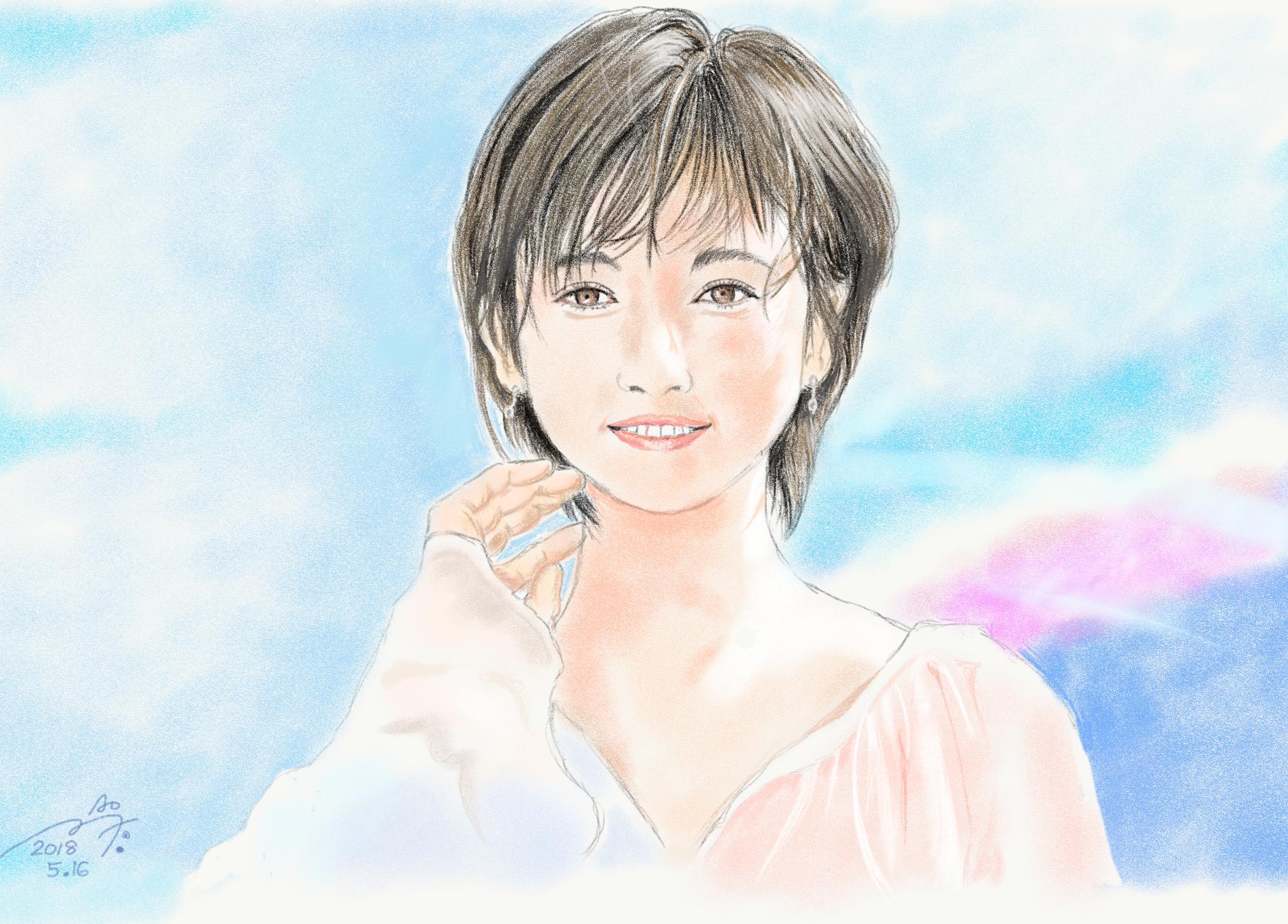木村文乃の似顔絵