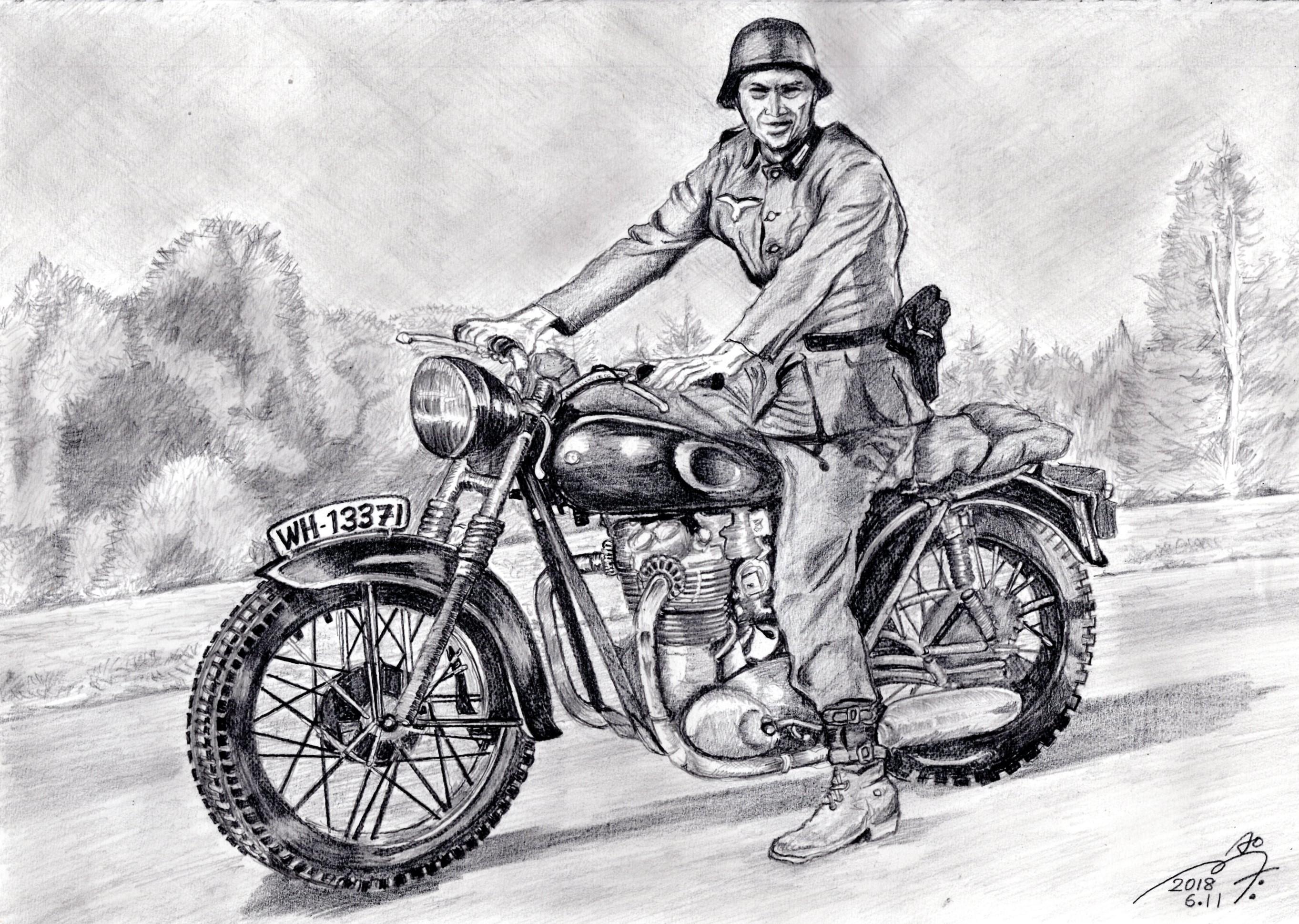 『大脱走』スティーブ・マックイーンの鉛筆画似顔絵